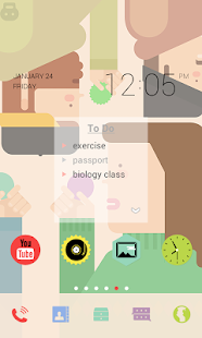 Colorful Sticker dodol theme - screenshot thumbnail