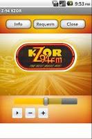 Screenshot of Z-94 KZOR