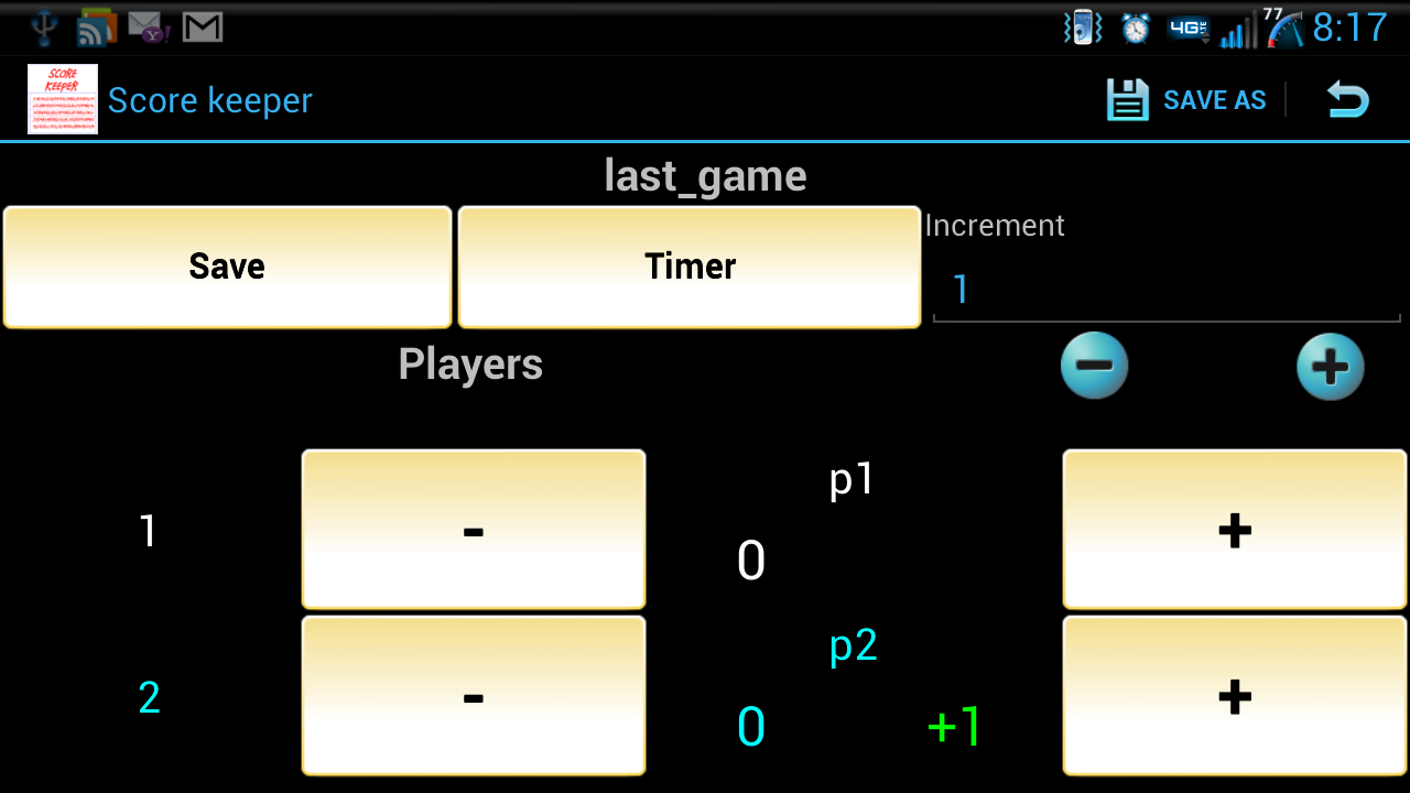 ScoreKeeper (Free) - screenshot