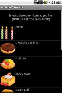 andeco * sweets- screenshot thumbnail