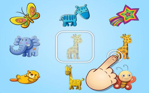 動物 水果和玩具配對- 為幼兒和學齡兒童準備的教學遊戲