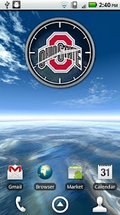 Ohio State Buckeyes Clock- screenshot thumbnail