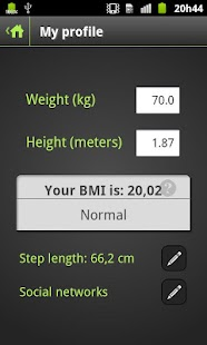 Pedometer Plus- screenshot thumbnail