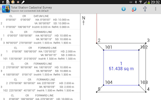 Screenshot of Total Station Cadastral Survey