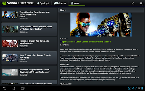 NVIDIA TegraZone 2 screenshot 6