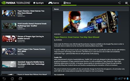 NVIDIA TegraZone 2- screenshot thumbnail