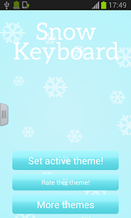 Snow Keyboard - screenshot thumbnail