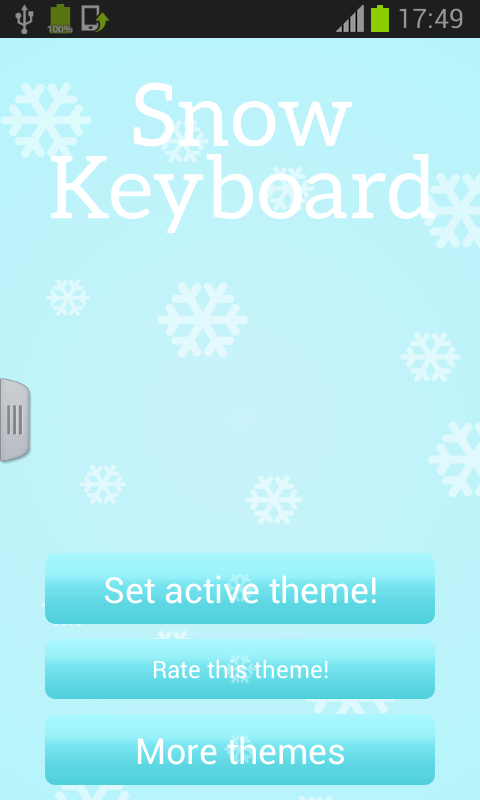 Snow Keyboard - screenshot