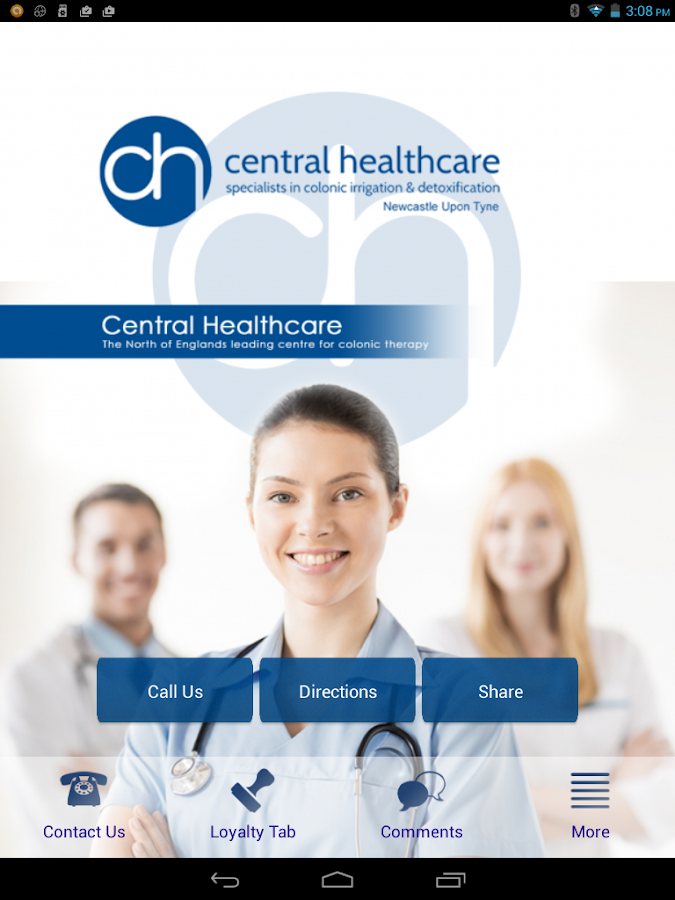 centralhealthcare- screenshot