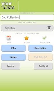 Your Task | Custom Lists Lite - screenshot thumbnail