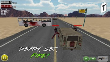 Screenshot of Drive with Zombies 3D