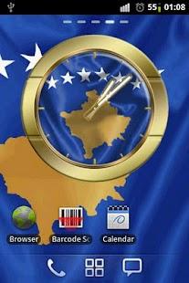 Republic of Kosovo flag clocks- screenshot thumbnail