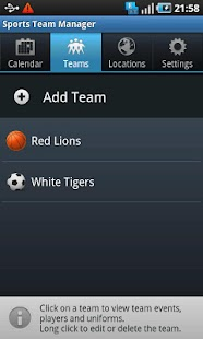 Sports Team Manager Lite- screenshot thumbnail