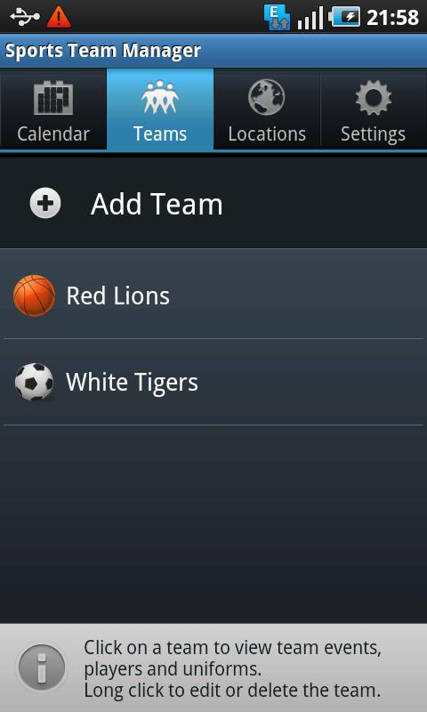 Sports Team Manager Lite - screenshot