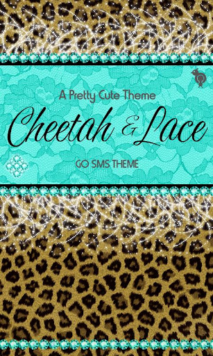 Cheetah Lace Theme GO SMS