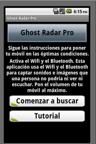 Ghost Detector Android - screenshot