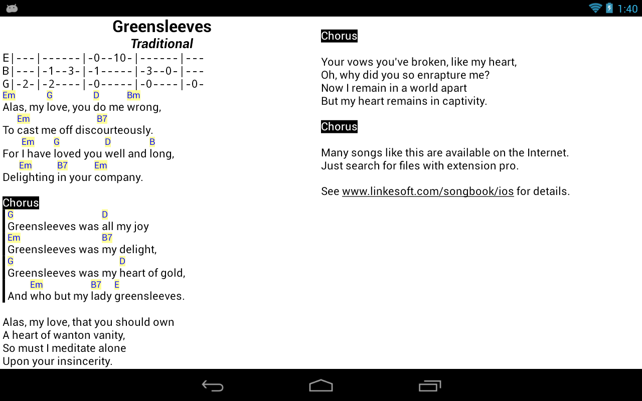 Songbook android apps on google play songbook screenshot hexwebz Image collections