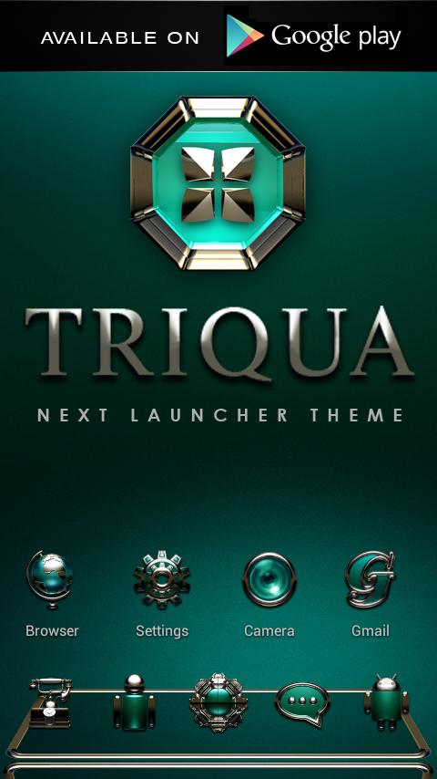 TRIQUA Luxury Clock Widget - screenshot