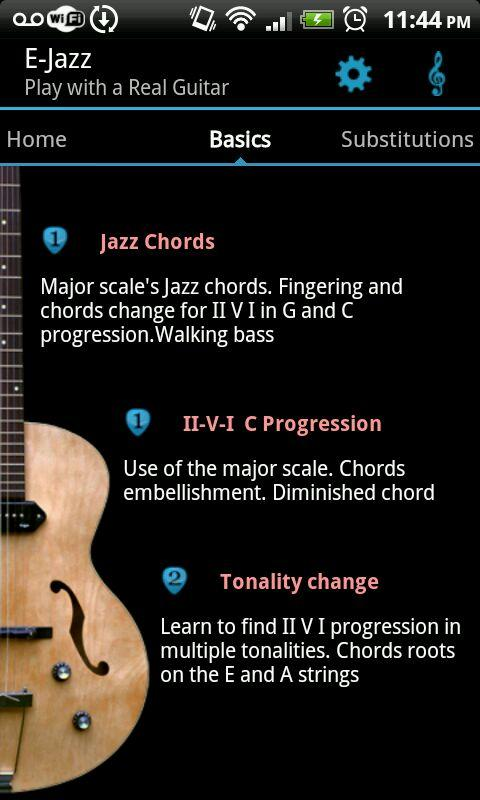 Jazz Guitar Lessons : E-Jazz- screenshot