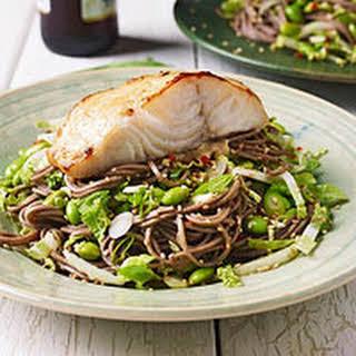 Soba Salad & Teriyaki Black Cod.