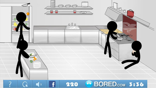 Stickman Click Death Kitchen