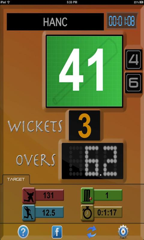 Cricket Scoreboard - screenshot