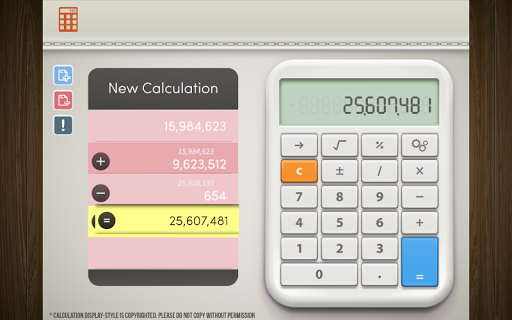 Table Calculator for Tablet