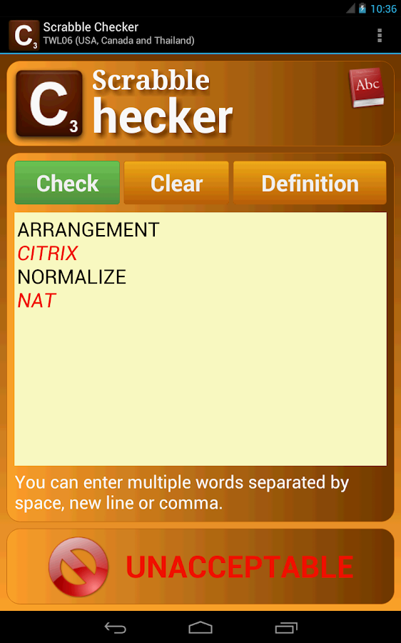 Scrabble Checker - screenshot