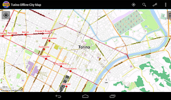 Screenshot of Turin Offline City Map