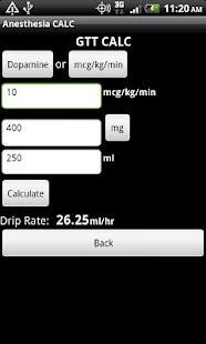 Anesthesia CALC - screenshot thumbnail