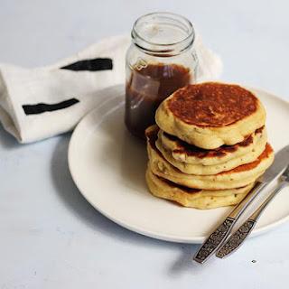 Pecan Pancakes with Vanilla Maple Caramel