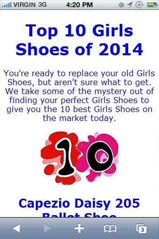 Girls Shoe Reviews
