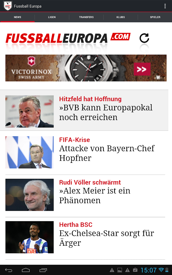 Fussball Europa- screenshot