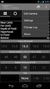 DOF and Hyperfocal Calculator – Vignette de la capture d'écran