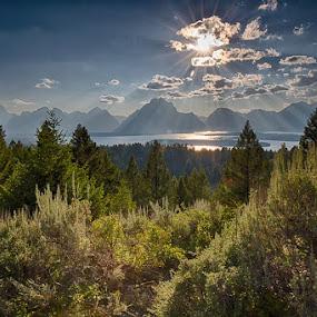 GRANDTETONS II-6.jpg by Jim Kuhn - Landscapes Mountains & Hills