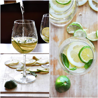Mint and Citrus White Wine Sangria.