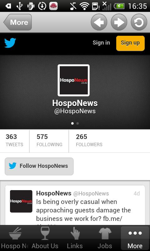 Hospo News - screenshot