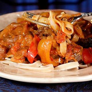 Eggplant Paprikash.