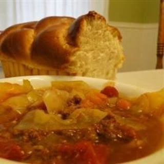 Sweet Russian Cabbage Soup.