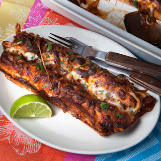 Chicken Mole Enchiladas.