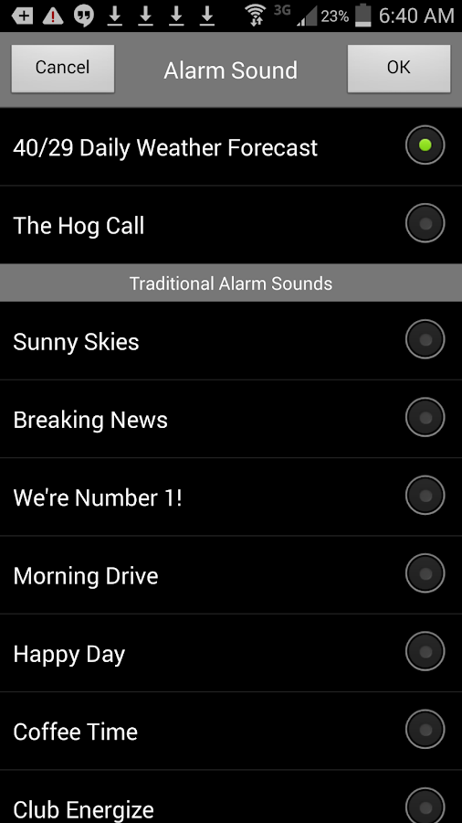 Alarm Clock 40/29 TV KHBS/KHOG- screenshot