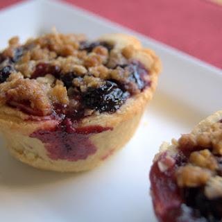 Blueberry Cherry Mini Crumb Pies