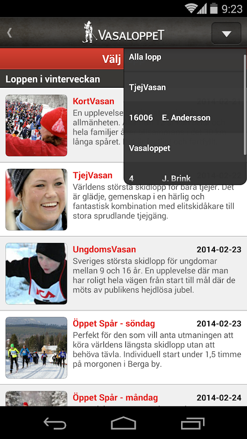 Vasaloppet Vinter 2015 - screenshot