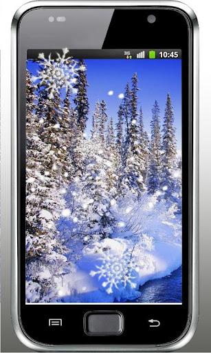 Snow Frosen Day live wallpaper