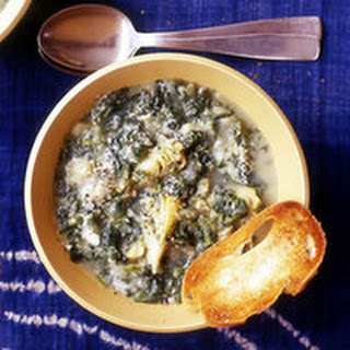 Potato, Spinach and Artichoke Soup