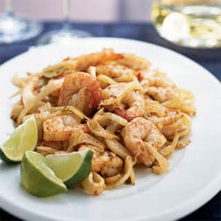 Shrimp and Fennel in Hot Garlic Sauce.