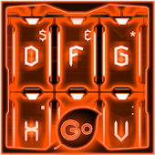 GO Keyboard Orange Tech Theme