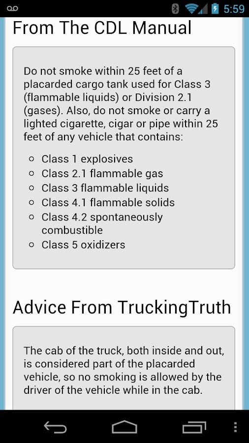 CDL Practice Test- screenshot