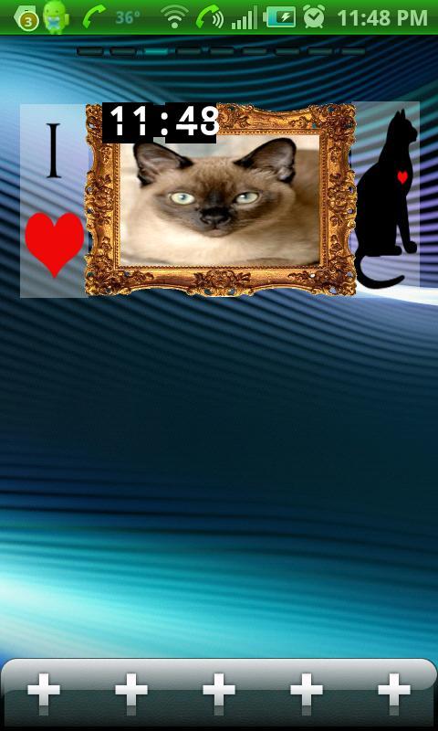 I Luv Cats Widget- screenshot