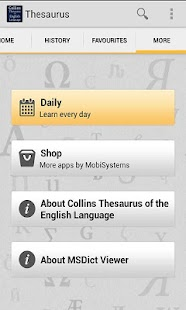 Collins Thesaurus English TR - screenshot thumbnail